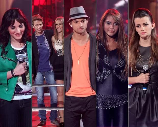 Samantha, Bruno & Camila, Diego, Karol e Ju Gomes estão fora da competição (Foto: The Voice Brasil/TV Globo)