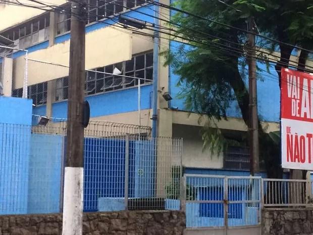 Escola Estadual Marquês de São Vicente, em Santos, litoral de São Paulo (Foto: João Paulo de Castro/G1)