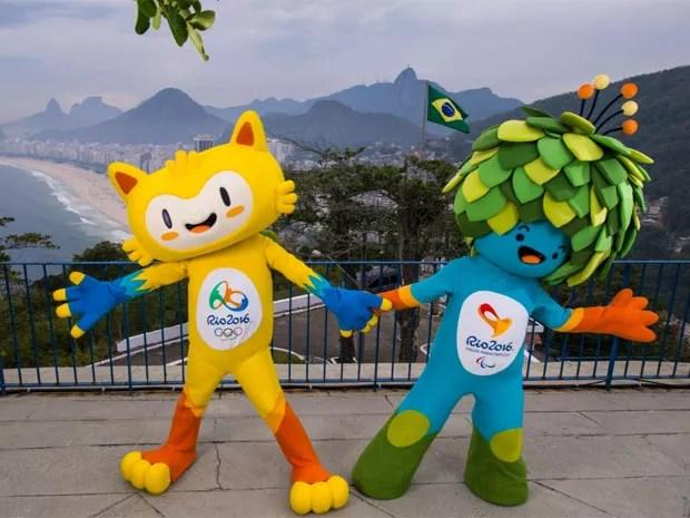 Vinícius e Tom são os mascotes dos Jogos Olímpicos (Foto: Instagram/@viniciusrio2016)