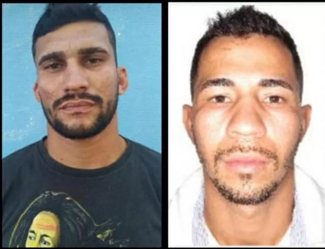 Wesdra Victor Galvão de Souza, de 29 anos, e Alan Patric Schuller, de 27, suspeitos de ter assassinado do policial, se entregaram à DHPP — Foto: Divulgação