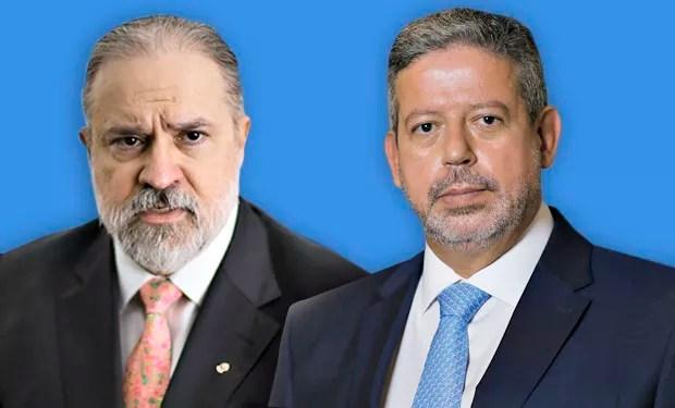 O procurador Augusto Aras e o deputado Arthur Lira