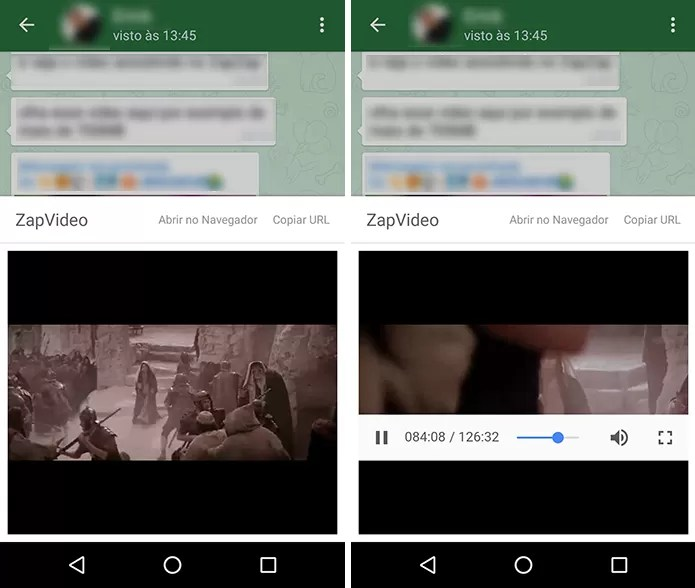 ZapZap permite assistir a vídeos grandes por streaming