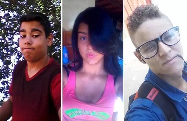 Nathanael, Andressa e Gevison mantém um relacionamento a três e fugiram de casa em Goiás (Foto: Arquivo pessoal)