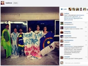 Maria Gadú publicou foto em seu Twitter a favor dos protestos (Foto: Reprodução/Instagram)