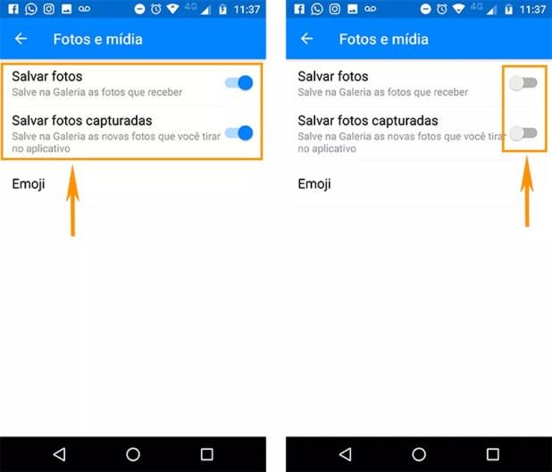 Desative o download automático de fotos na galeria do Android (Foto: Foto: Reprodução/Barbara Mannara)