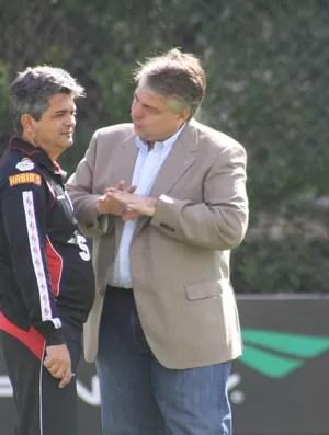 Ney Franco Adalberto Baptista São Paulo treino (Foto: Cleber Akamine)