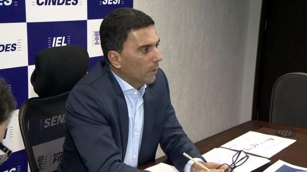 Presidente da Findes, Léo de Castro (Foto: Reprodução/ TV Gazeta)