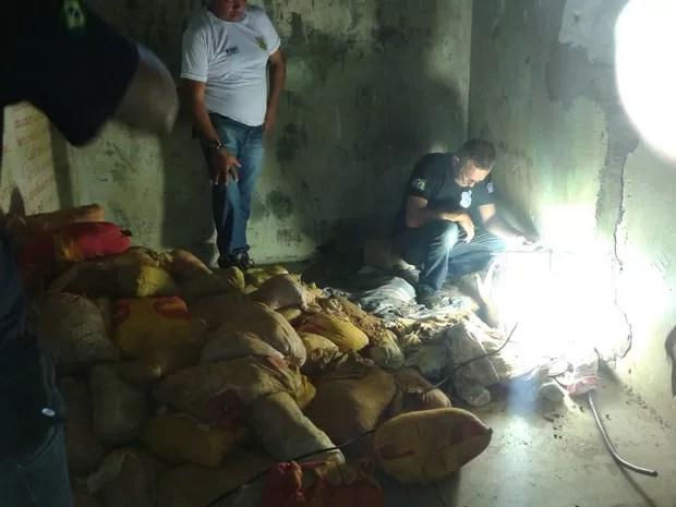 Túnel encontrado no Centro de Ressocialização Social Luz do Amanhã (Foto: Divulgação)