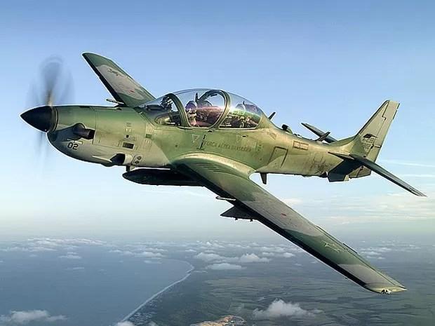 Super Tucano usado pela Força Aérea Brasileira. 16 aviões foram vendidos para a Indonésia. (Foto: Divulgação / Embraer)