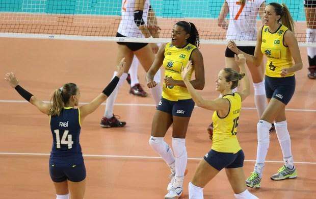 Seleção feminina de vôlei 3 x 0 Holanda, Grand Prix (Foto: Divulgação / FIVB)