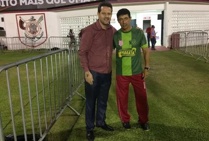 Betinho e Argel Fucks (Foto: Felipe Martins/Asscom CSS)