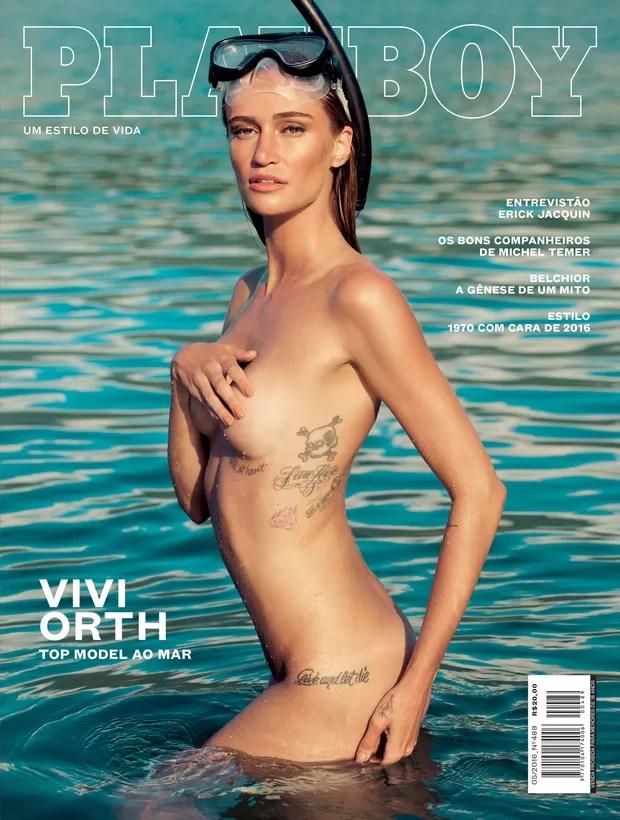 Vivi Orth na capa da 'Playboy' (Foto: André Passos/ Playboy/Divulgação)