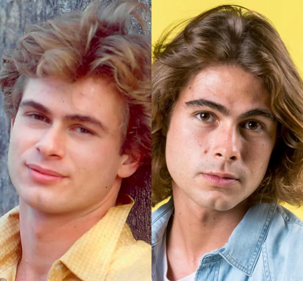 João Vitti e o filho, Rafael Vitti, aos 22 anos. Idênticos! — Foto: TV Globo