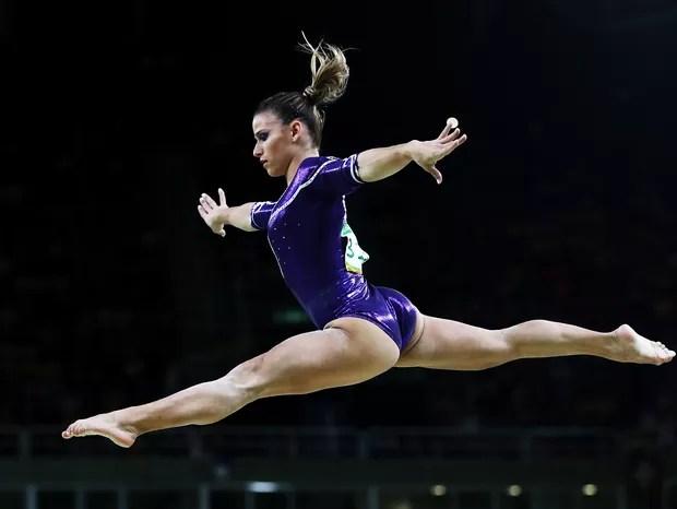 Jade Barbosa durante Olimpíada de 2016 no Rio  (Foto: Getty Images)
