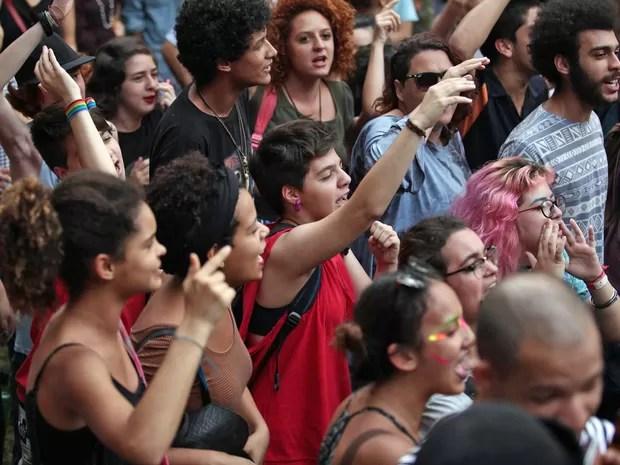 Estudantes durante Virada Ocupação (Foto: Fabio Tito/G1)
