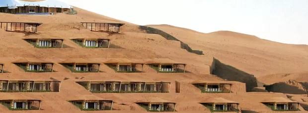 Vista externa das varandas do hotel Duna
