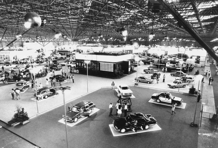 Salão do Automóvel de 1988, quando o mercado ainda não tinha veículos importados — Foto: Oswaldo Luiz Palermo/Estadão Conteúdo/Arquivo
