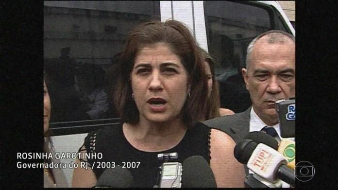 Rosinha Garotinha, quando era governadora do Rio (Foto: Reprodução/Acervo/Globo)