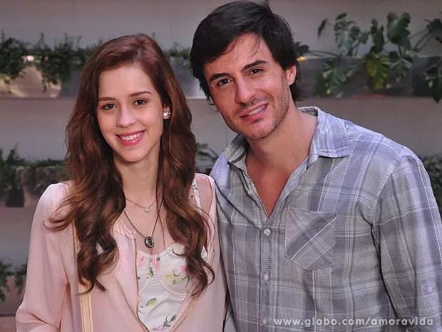 Sophia Abrahão gravou cena ao lado de Ricardo Tozzi (Foto: Amor à Vida/TV Globo)