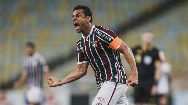 Fred marcou três gols e deu duas assistências em 2020 — Foto: Lucas Merçon / Fluminense FC