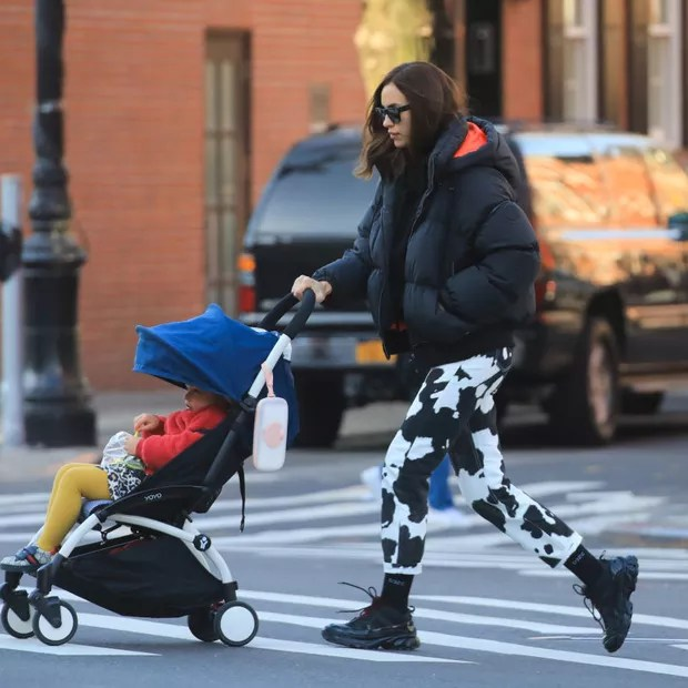 NEW YORK, NEW YORK - MARCH 11: Irina Shayk is seen with her daughter in West Village on March 11, 2020 in New York City. (Photo by Alessio Botticelli/GC Images) (Photo: GC Images)