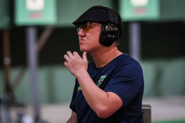 Felipe Wu teve desempenho ruim em Tóquio — Foto: Wander Roberto/COB