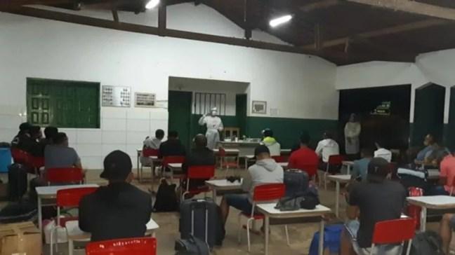 Grupo passa sete dias sendo monitorado por profissionais de saúde — Foto: Secretaria da Saúde de Aroazes/Divulgação