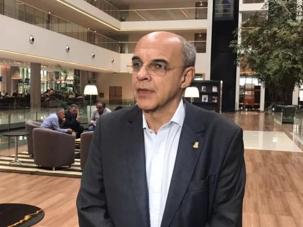 Eduardo Bandeira de Mello, presidente do Flamengo (Foto: Bruno Cassucci)