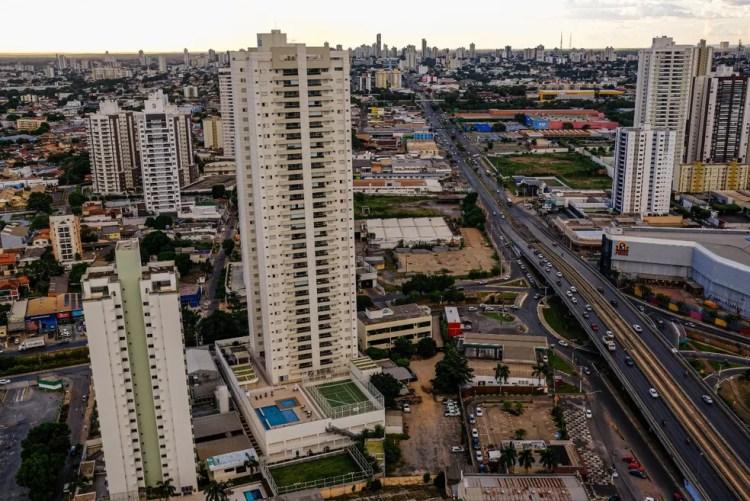 Foto aérea de Cuiabá — Foto: Mayke Toscano/Secom-MT
