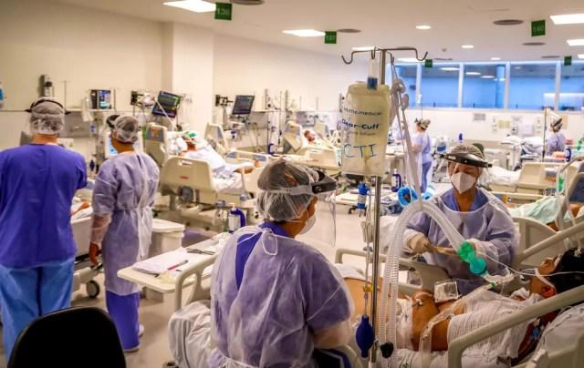UTIs estão lotadas em MT — Foto: Silvio Avila/Divulgação