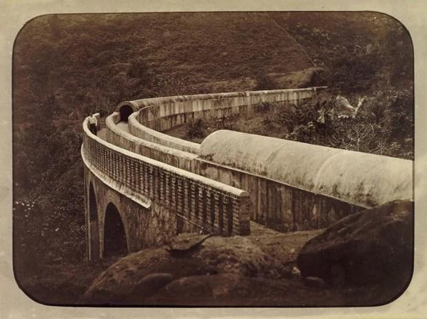 'Aqueducto do Rio Sto. Antonio - Ponte Curva', do brasileiro Marc Ferrez (Foto: Cortesia/Getty's Open Content Program)