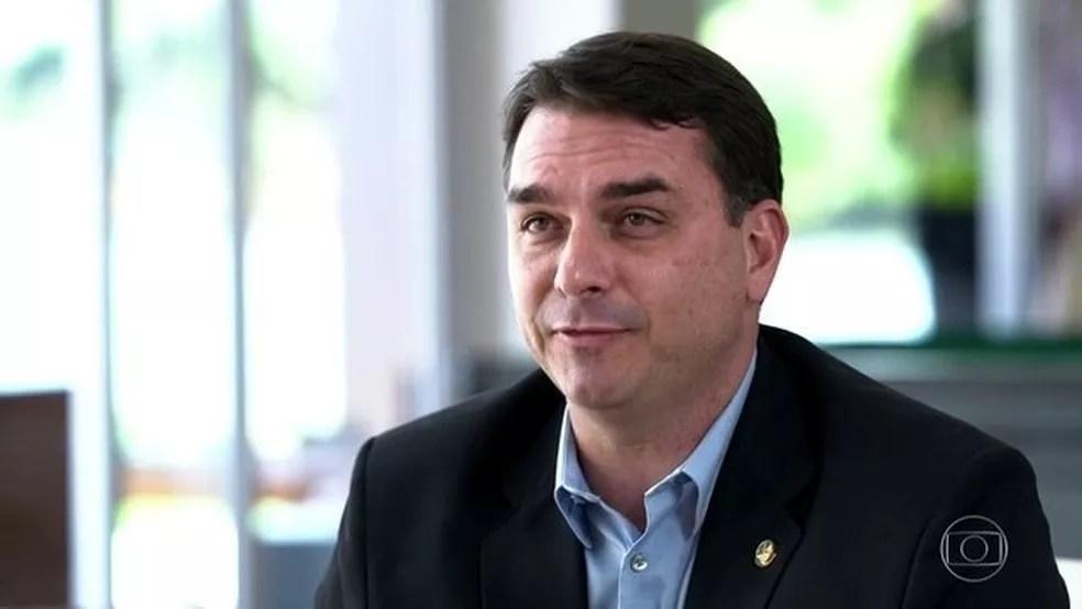 Flávio Bolsonaro — Foto: Jornal Nacional