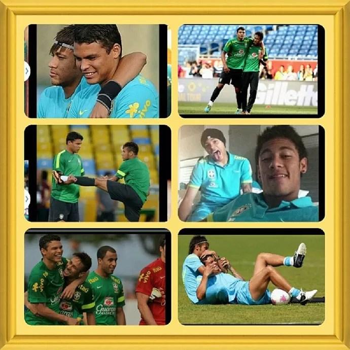 thiago silva parabeniza Neymar pelo seu aniversário (Foto: Reprodução )