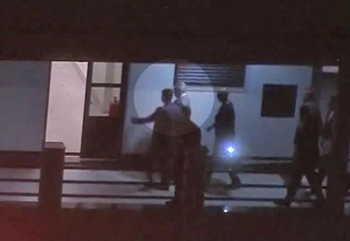 Michel Temer na chegada à Superintendência da PF no Rio — Foto: Reprodução/TV Globo