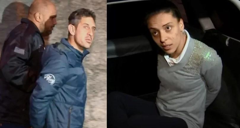 Casal foi preso suspeito de estar envolvido em crime que matou menina Vitória Gabrielly em Araçariguama (SP) (Foto: TV TEM/Reprodução)