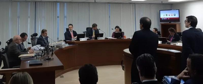 Julgamento no STJD rejeita pedido de impugnação feito pelo Palmeiras — Foto: Fred Huber