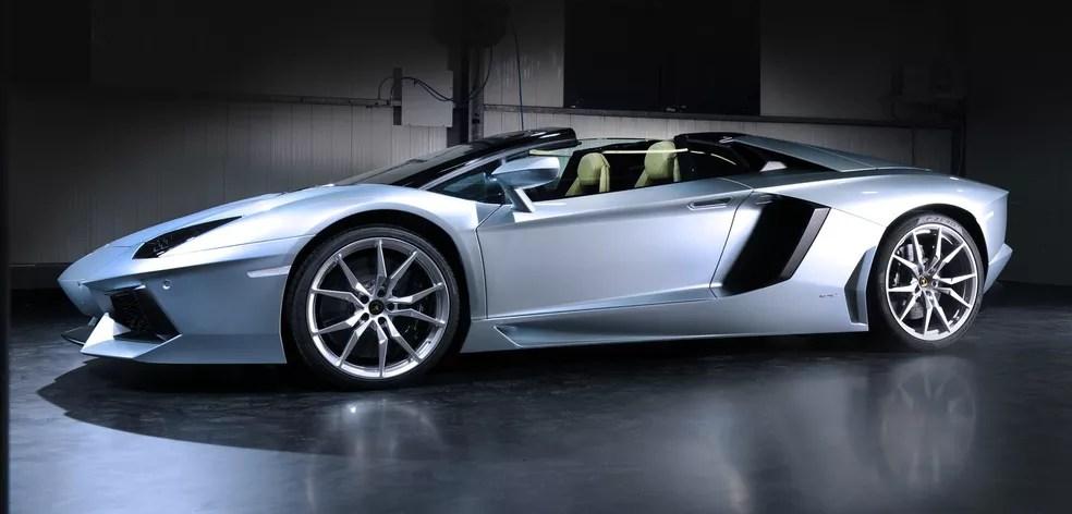 Modelo Lamborghini Aventador Roadster que inspirou o mato-grossense (Foto: Divulgação)