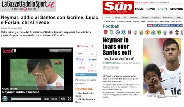 neymar jornais montagem (Foto: Reprodução)