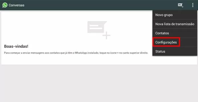 WhatsApp oferece visualização de status do serviço através das configurações do aplicativo (Foto: Reprodução/Elson de Souza)