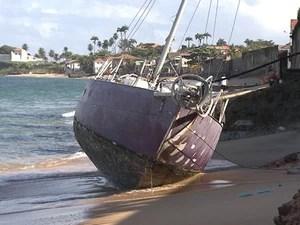 Navio Fantasma (Foto: Reprodução / TV Bahia)