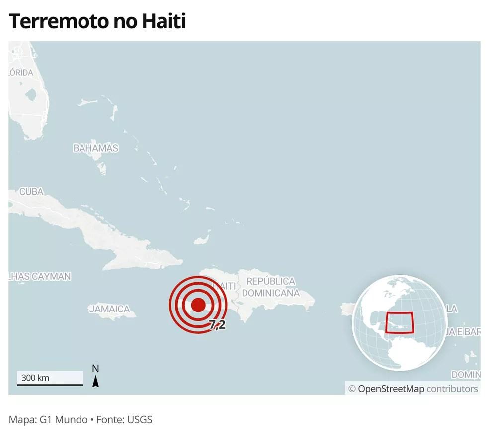 Terremoto no Haiti em 14 de agosto de 2021 — Foto: G1 Mundo
