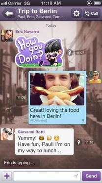 screenshot de Viber