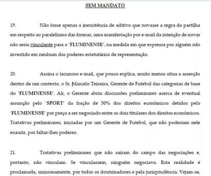 Processo Fluminense Sport (Foto: Reprodução)
