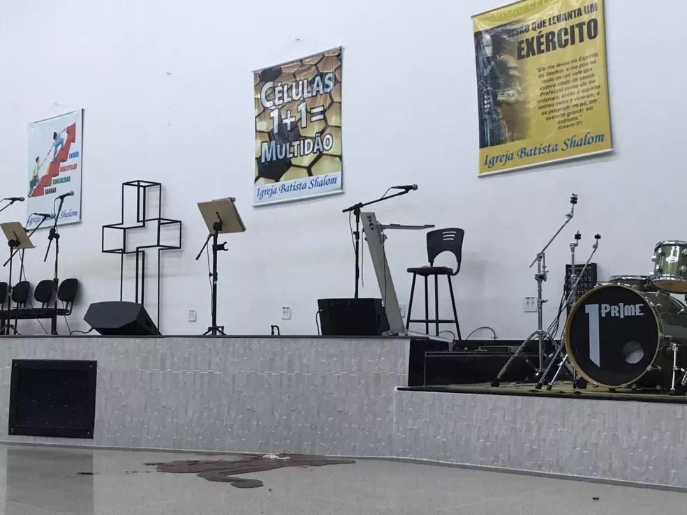 Imagem do interior da igreja evangélica em Paracatu — Foto: Ailton Pinheiro / Arquivo pessoal