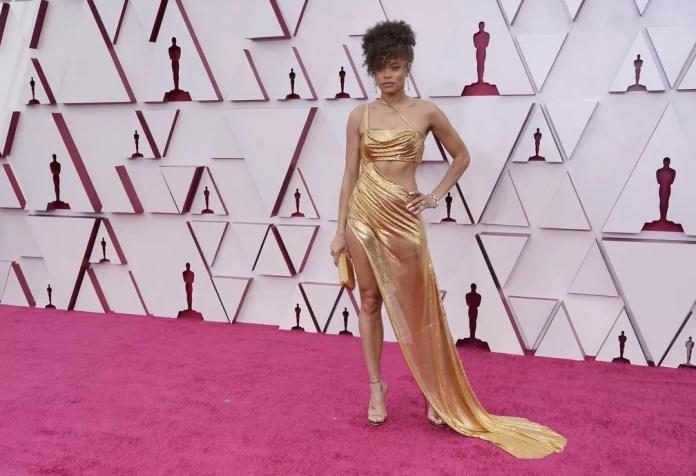"""Andra Day, indicada a melhor atriz por """"Estados Unidos Vs Billie Holiday"""", no Oscar 2021 — Foto: AP/Chris Pizzello"""