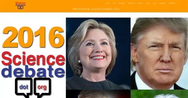 Candidatos à presidência dos EUA foram questionados pelo editor da revista americana Science  (Foto: Reprodução/sciencedebate)