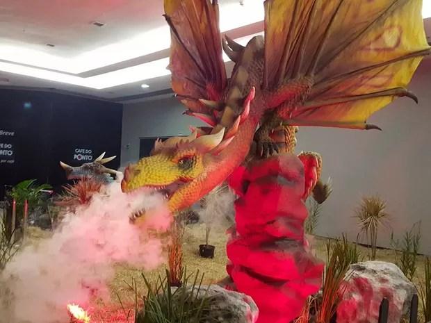 Dragões estão expostos pelo Buriti Shopping em Aparecida de Goiânia, Goiás (Foto: Divulgação/ Buriti Shopping)