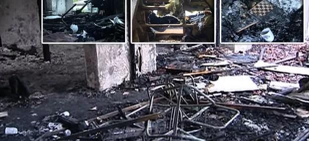 Destruição na casa do Breno, SporTV Repórter 1 (Foto: Reprodução SporTV)