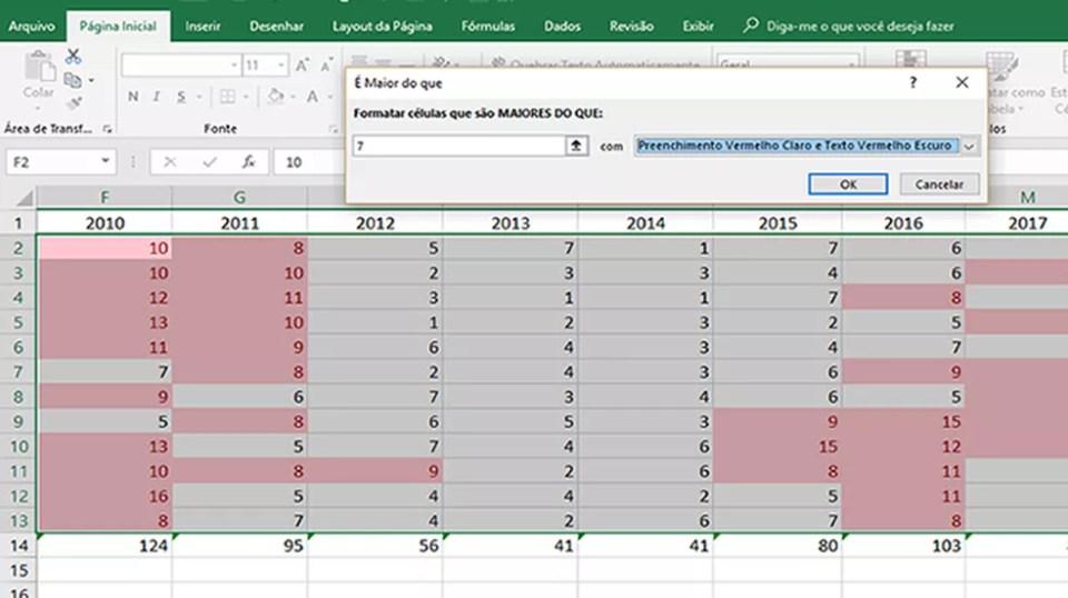 Configure a opção escolhida de acordo com as cores e valores que deseja usar no Excel (Foto: Reprodução/Daniel Ribeiro)