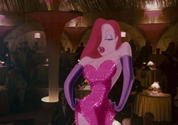 """Jessica Rabbit at """"A Trap for Roger Rabbit"""" (Photo: Reproduction)"""